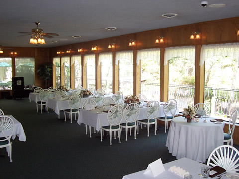 nevada city ca hotel wedding reception with tables and chairs