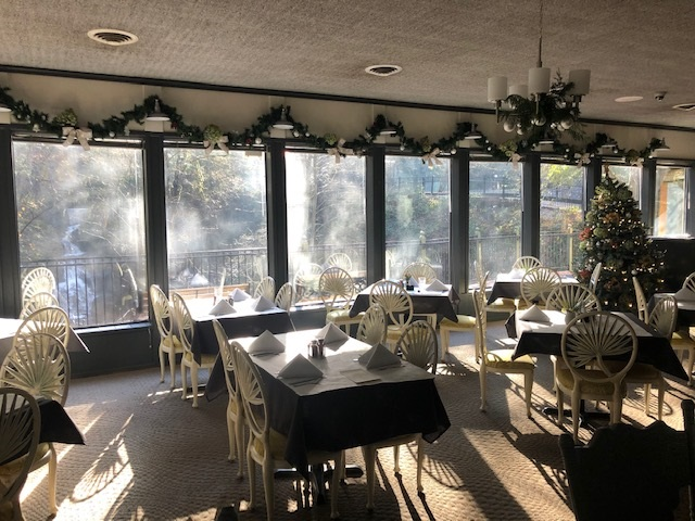 If you've never dined in a forest overlooking a waterfall, you need to join us at one of many window tables...